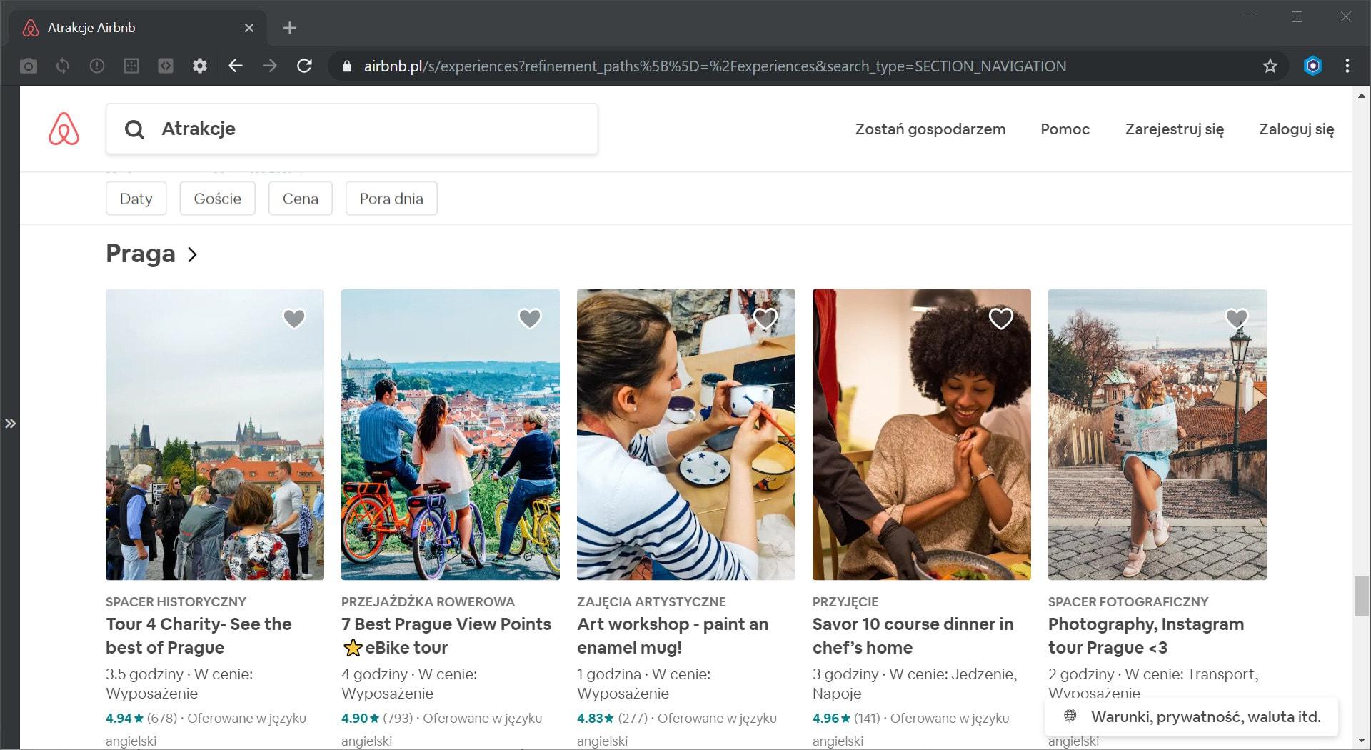 Atrakcje Airbnb w Pradze