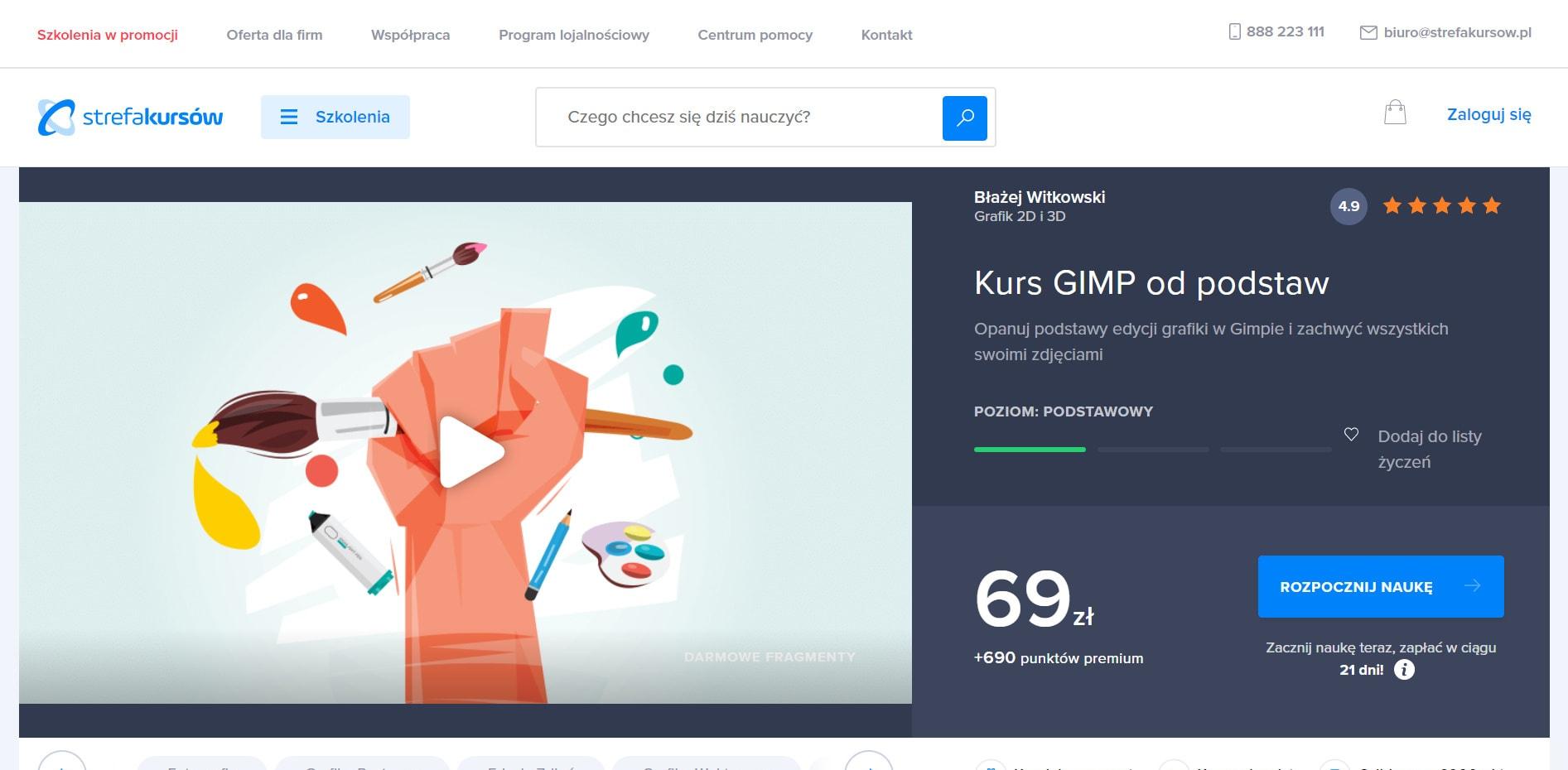 Strefa Kursów - GIMP od podstaw